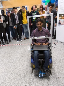 Eye tracking wheelchair
