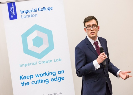Competitor pitches at the Imperial Showcase
