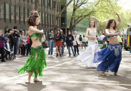 Imperial belly dancers in action