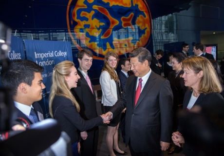Xi with students