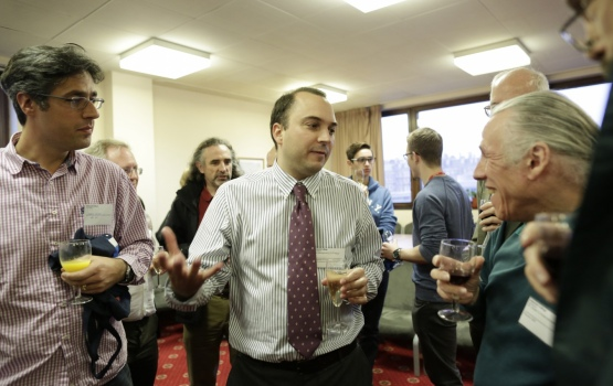 Alumni and guests had the opportunity to chat to the speakers during a reception in the Physics Common Room