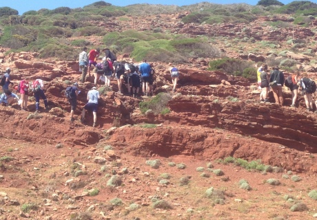 Students log the P-T boundary in Sardinia