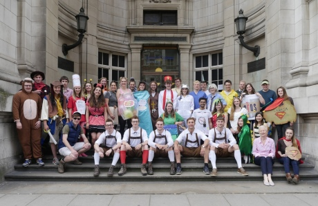 Fourth years dress up for their final exams