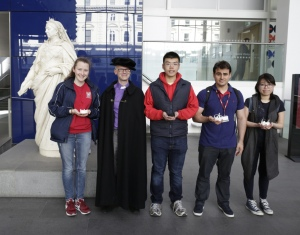 Competition finalists with Professor Peter Childs