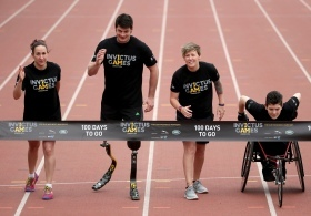 Dave in preperation for the invictus games