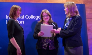 Ellen Dowell and Professor Sara Rankin accept the award