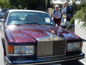 David Goodall takes a ride in a Rolls Royce