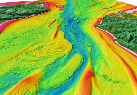 The Dover Strait seafloor image shows signs of huge megafloods, which scoured the Ice Age environment