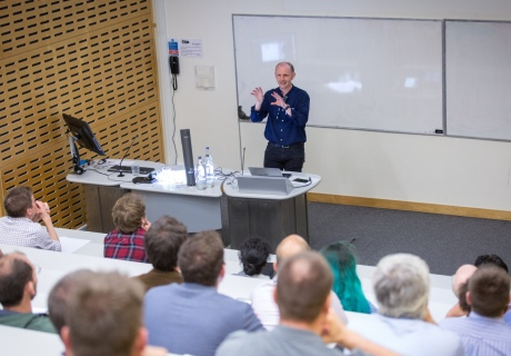 Professor Andrew Davison gives a lecture at Imperial College London