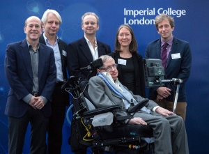 Stephen Hawking and his former students