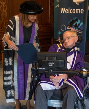 Stephen Hawking receives honorary doctorate