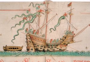 Peroid illustration of the Mary Rose