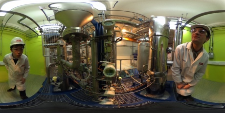 A 360 degree image of the carbon capture lab