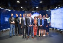 Norwegian Minister visits Imperial's innovative Data Science Institute