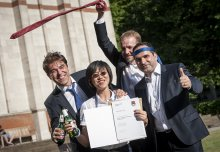 Staff and student contributions recognised at Imperial Garden Party