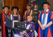 Stephen Hawking awarded Imperial College London's highest honour