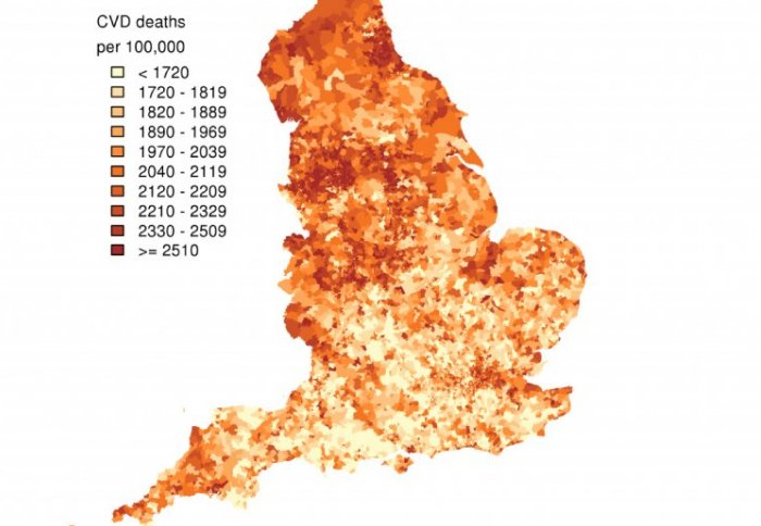 disease map of England highlights growing social inequality in ... on