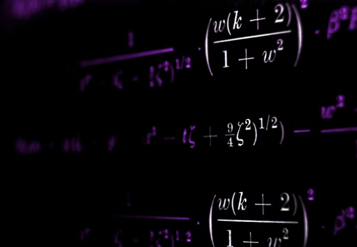 Equations on a blackboard