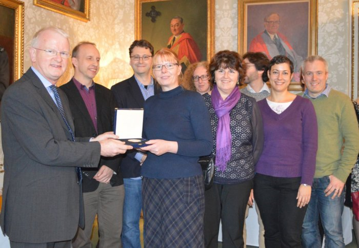 The Julia Higgins Medal is awarded to the Department of Chemistry