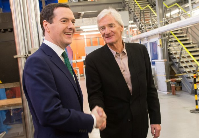 Chancellor, George Osbourne with Sir James Dyson