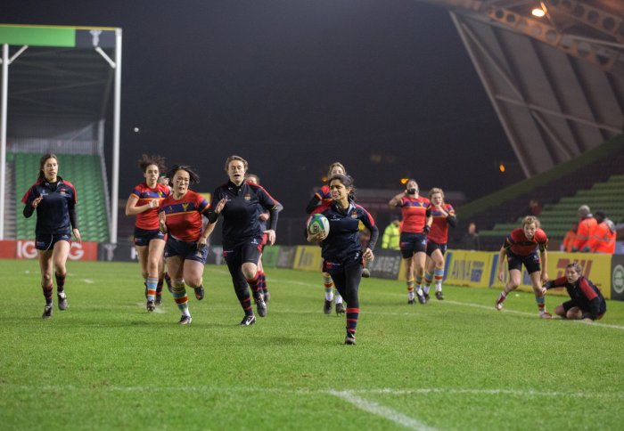 Women's Rugby players at the Stoop