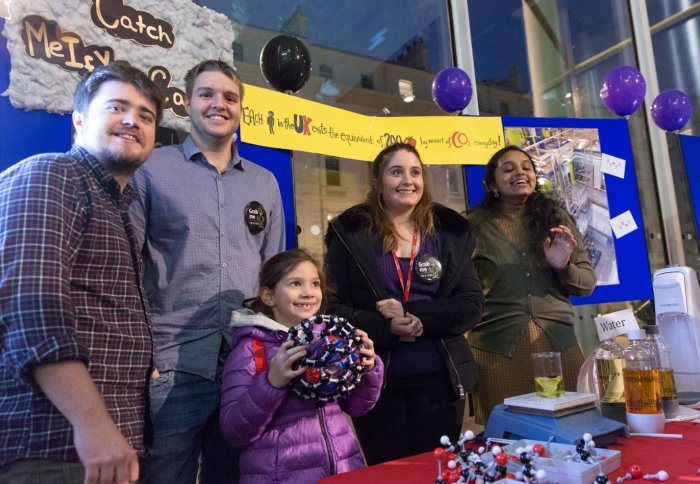 Researchers and public with chemistry models