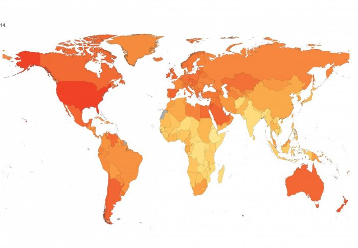 obesity map of the world