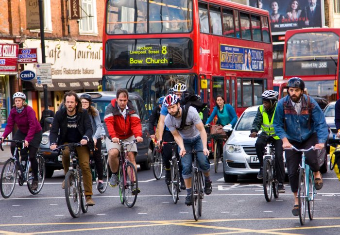 Cyclists in London