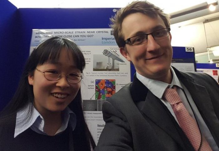 Vivian Tong, 3rd year HexMat PhD student, presents in the House of Commons