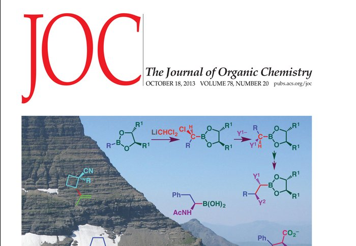 Sept 2016 - Article in J. Org. Chem. Published