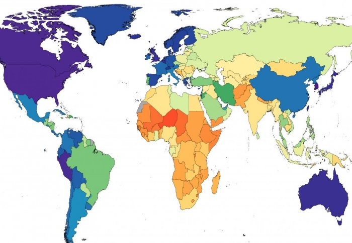 Study World Map.High Blood Pressure Affects 1 13 Billion People Says New Study