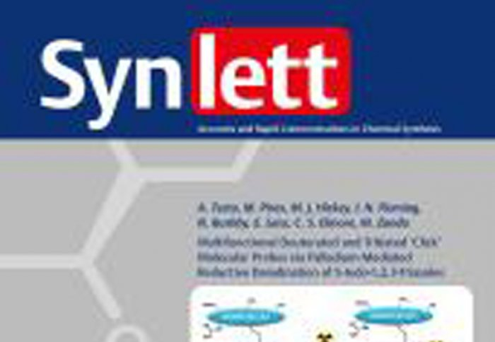 Nov 2016 - Article in Synlett Published