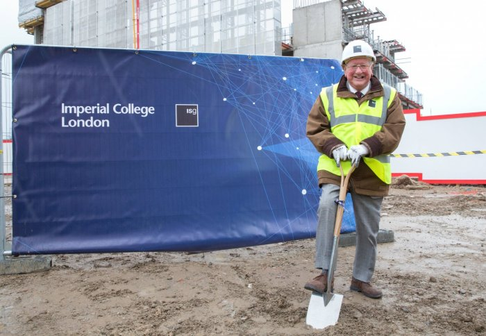 Sir Michael Uren at the site