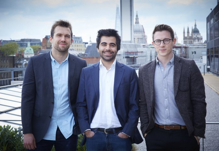 Peter Lipka with co-founders Herman Narula and Rob Whitehead