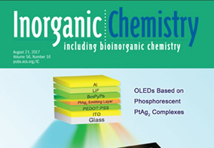 Aug 2017 - Article in Inorganic Chemistry Published