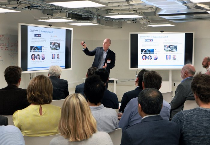 Simon Hepworth, Director of Enterprise at Imperial, explaining the scheme
