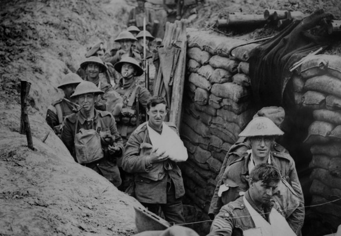 British troops in the trenches of during the First World War