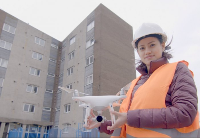 Pae Natwilai holding a drone